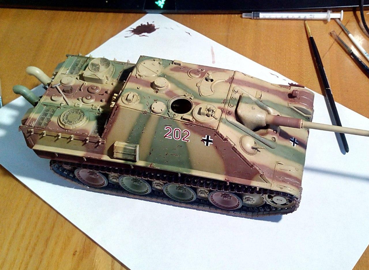 Jagdpanther (Late\поздний вариант) (Tamiya 35203 1/35) D6FwwfSOk98