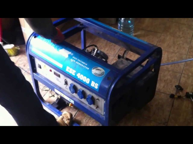 HHO Бензогенератор 4кВт полностью на водороде