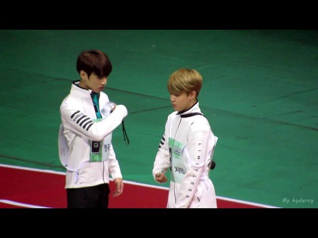 (Fancam)20160829-방탄소년단 BTS 아육대 지민51221;국Jikook moment