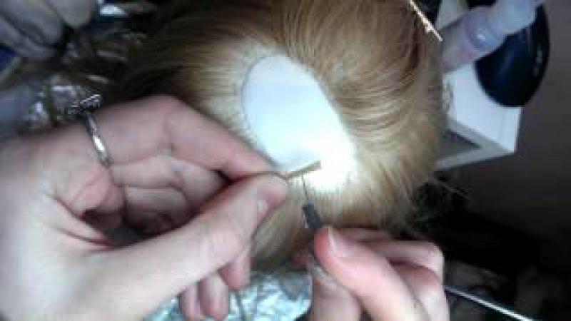 Вживление волос (авторская портретная кукла)