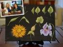 Curso de Pinceladas Pintar hojas y flores Silvia Mongelos