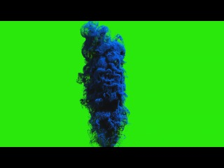 Fumaça Azul #1 - Blue Smoke #1 [Fundo Verde - Green Screen]