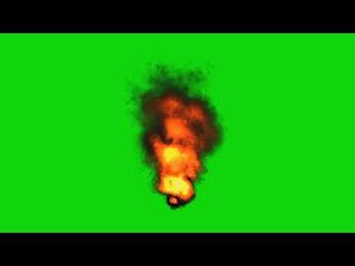 Tornado de Fogo #1 - Tornado of Fire #1 [Fundo Verde - Green Screen]