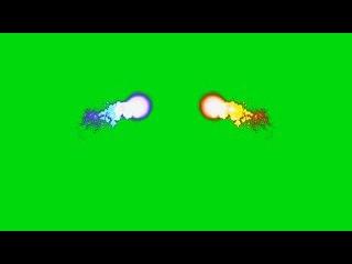 Partículas Coloridas #1 - Colorful Particles #1 [Fundo Verde - Green Screen]