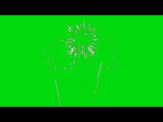 Fogos de Artifício #2 - Fireworks #2 [Fundo Verde - Green Screen]