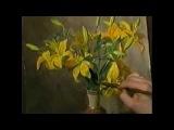 Цветы акварелью 01 Рисуем Желтые лилии Акварель Андрияка С Н