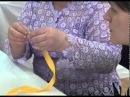 Объемная вышивка лентами, ФУКСИЯ , урок 2 (продолжение).Мастер класс от Е. Савельевой