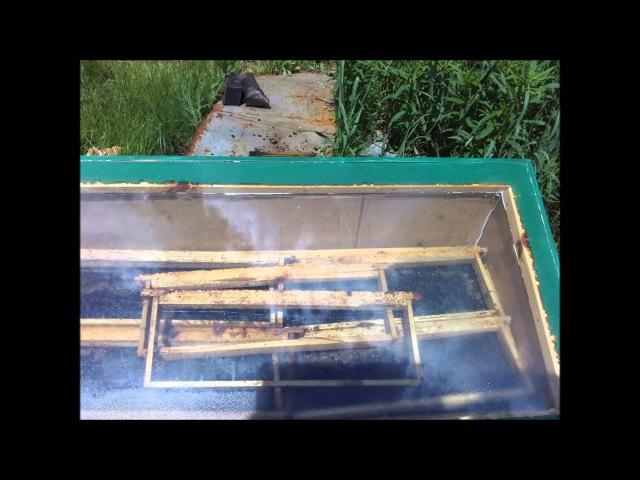 Солнечная воскотопка своими руками, обзор. Solar extractors