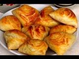 Слоёные самсы с курицей в духовке. Восточная узбекская кухня рецепт как приготовить самсу выпечка.