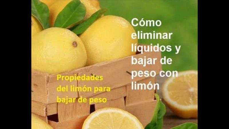 Cómo eliminar líquidos y bajar de peso con limón