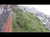 Костя (тест) на Универе 12.06.2016 Прыжки с командой Земля прыжков