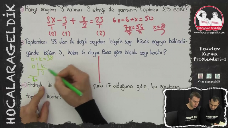 Denklem Kurma Problemleri -1 - YGS LYS LİSE - Matematik - Hocalara Geldik
