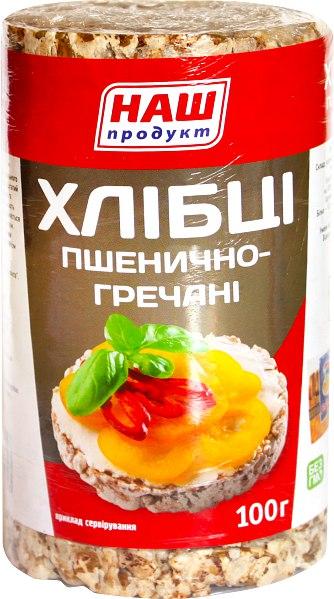 Хлібці пшенично-гречані, Наш Продукт, 100 г