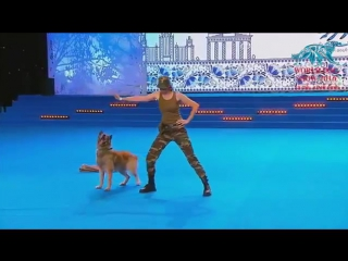 Чемпионат мира по Dogdance Россия - Москва - финал фристайла Lusy Imbergerova и Дэрил Италия