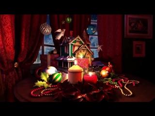 Потрясающе красивая новогодняя заставка для видео в подарок!