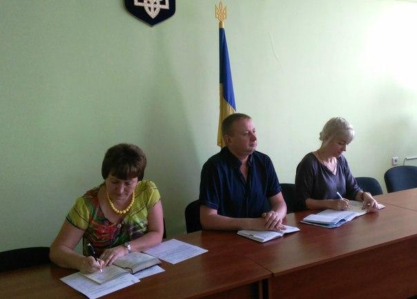 Перший заступник голови Печенізької районної державної адміністрації М.А.Никитченко провів апаратну нараду