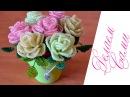 Розы Из Бисера В Горшочке 7 роз