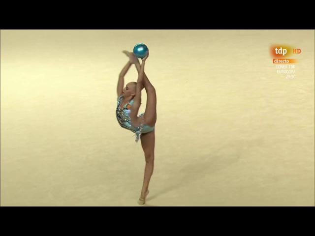 Yana Kudryavtseva. 2016 European Championships. AA. Ball