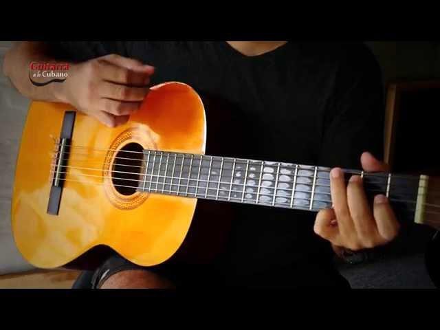 Paso a paso rasgado y arpegio en la guitarra del Son Montuno Guitarra a lo cubano Oscar Huerta