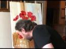 Пишем Букет маков на окне.Уроки живописи Игоря Сахарова.