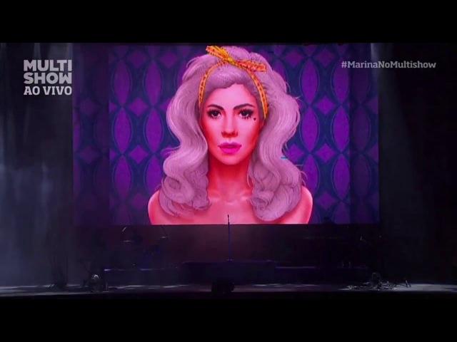 Marina And The Diamonds - Electra Heart Intro Bubblegum Bitch (Live at Lollapalooza Brazil 2016)