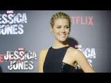 Rachael Taylor on Trish Walker - Marvels Jessica Jones Red Carpet