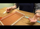 Demonstration of the Bigjigs Weaving Loom