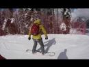 Моё первое катание на сноуборде.