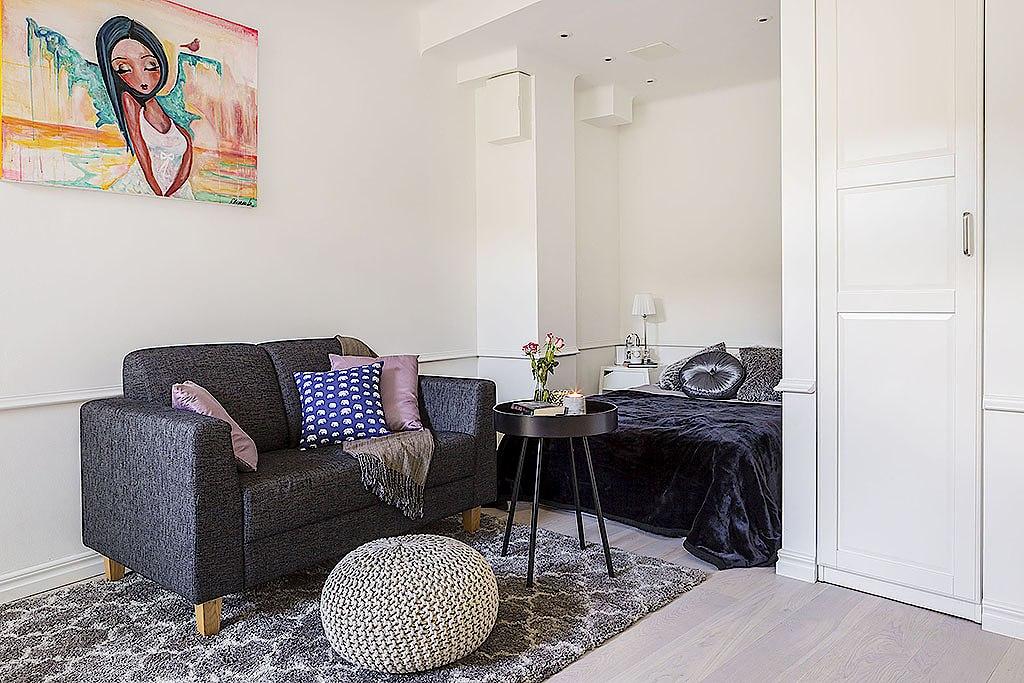 Интерьер небольшой квартиры-студии 25 м.