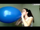 [hot] Pretty Woman Blows up Pops LARGE Blue Balloon Over Inf