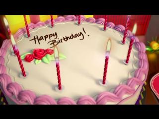Футаж Подарки и торт со свечами на день рождения