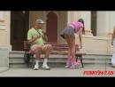 Розыгрыш - девушка в мини юбке просить помочь!