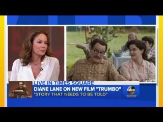 Diane Lane talks 'Trumbo' on Good Morning America [06/11/2015]