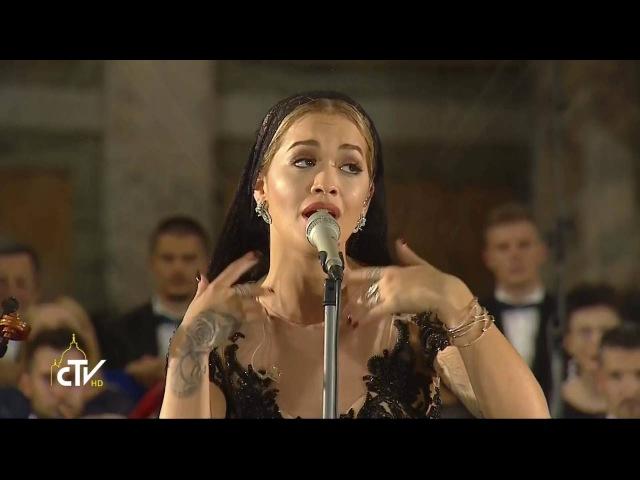 Rita Ora sings at Vigil for Canonisation of Mother Teresa 3 September 2016 HD