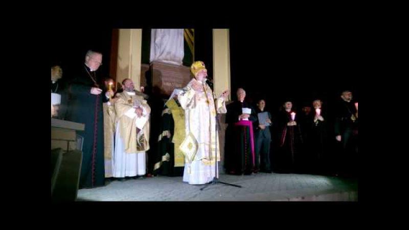 Владика Йосиф Мілян. Проповідь після походу зі свічками у Зарваниці