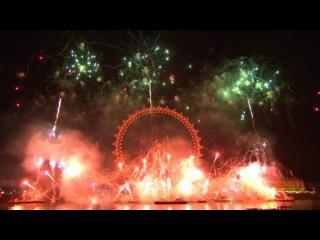 Новогодний салют в Лондоне 2016 London Fireworks 2016 - New Year's Eve Fireworks  01 01 2015