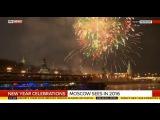Moscow, Russia Fireworks New Year Eve 2016 Новогодний салют в Москве  01 01 2016
