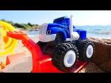 Giochi per bambini Blaze, Crusher e la nuova pista Video divertente per bambini con le macchinine