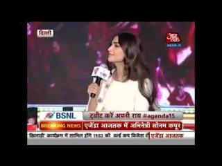 Sonam Kapoor on Agenda Aaj Tak 2015 (1)
