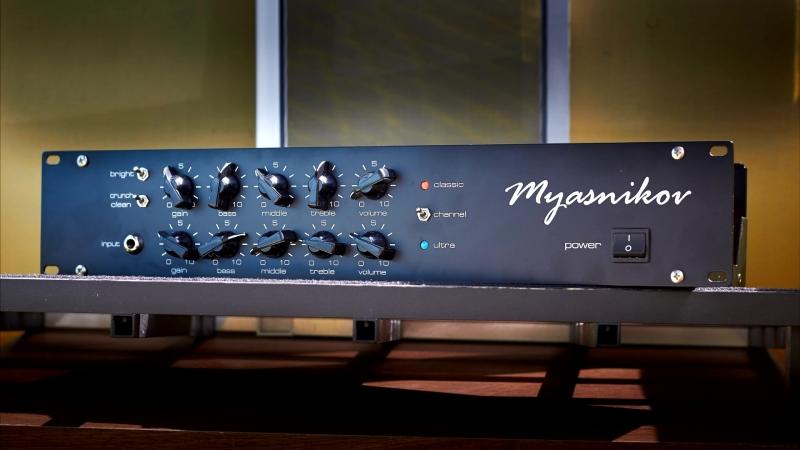 Myasnikov preamp Mesa Boogie 295 poweramp Dream Theater solo cover
