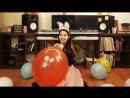 Yui Hisaishi - Happy Valentines Day! Blows up a 17 Qualatex Balloon to pop!