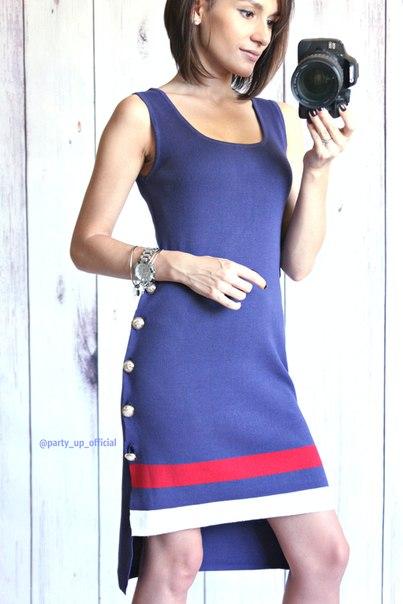 Трикотажное платье в морском стиле, ещё одна моя любовь .