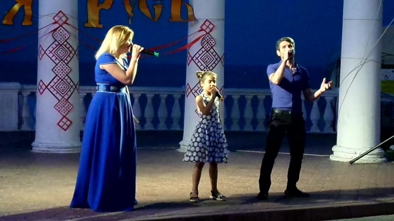 Выступление Марлена Белялова и Ксении Корягиной День Крещения Руси 28 июля 2016 г