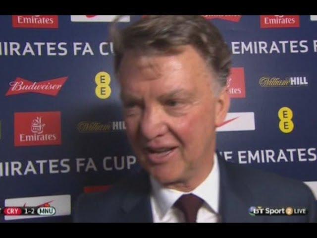 Man United 2-1 Crystal Palace | LVG Lat Man Utd Interview
