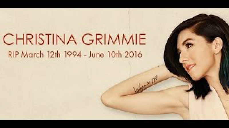 In Loving Memory Of Christina Grimmie   March 12th, 1994 to June 10th, 2016   We All Love You