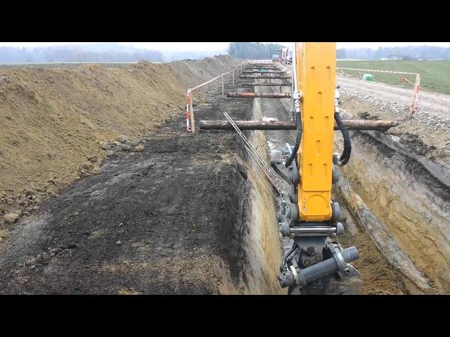 Liebherr 924 Gasleitung Tieferlegen Ins Gampelen