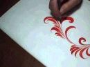 Трава мурава, роспись, вариант 2, brushstroke, irishkalia