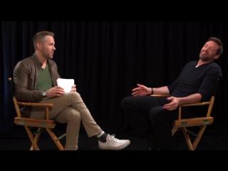 Райан Рейнольдс взял интервью у Хью Джекмана. Февраль 2016.