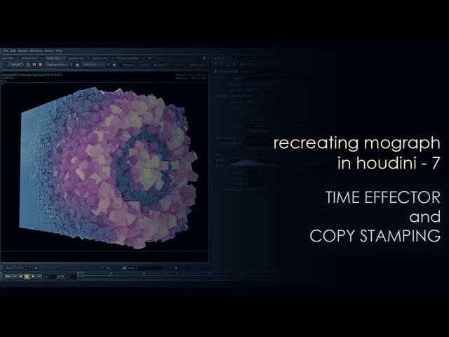 Recreating Mograph in Houdini - 7 - time effector