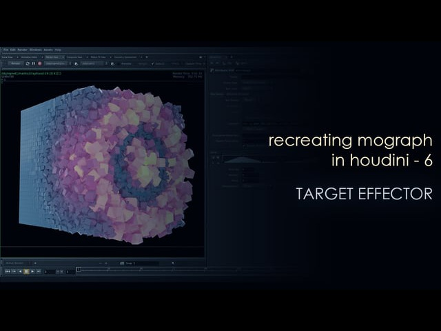 Recreating Mograph in Houdini - 6 - Target effector